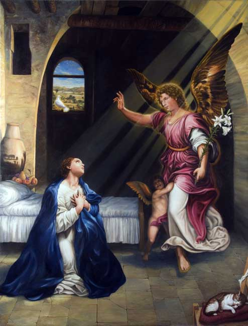 Annunciation jesus mary angel stock art