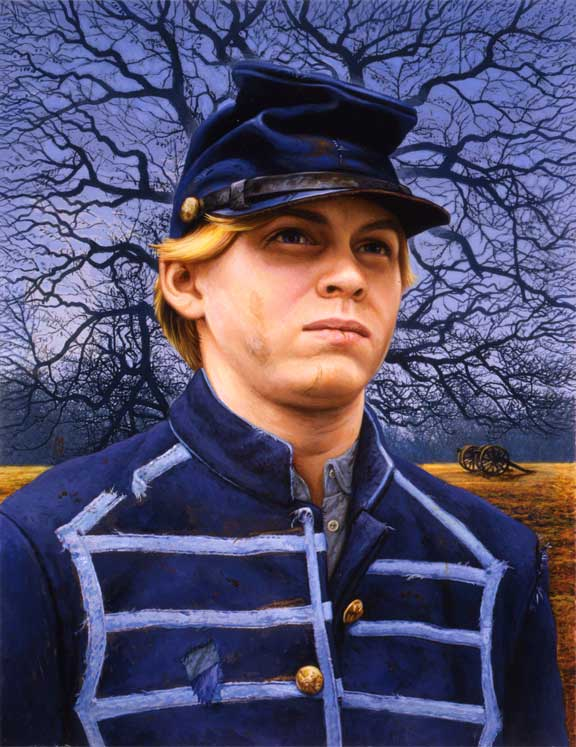 civil war soldier boy Stock Image